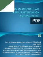Modelo Diapositivas Sustentacion Anteproyecto