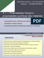 Prop Fisicas e Prop Quimicas Dos Materiais