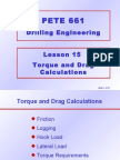 15. Torque and Drag Calculations