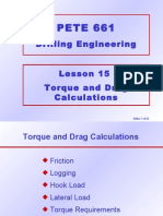 15. Torque and Drag Calculations