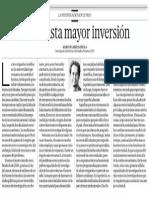 No basta mayor inversión - Marcos Garfias