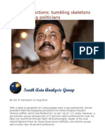 Sri Lanka Elections Tumbling Skeletons and Bumbling Politicians