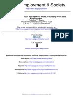 Extending Conceptual Boundaries Work Voluntary Work and Employment