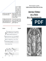 2ª Visperas Transfiguracion