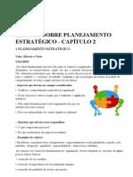Leitura Sobre Planejamento Estratégico - Capítulo 2