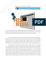 Definisi Press Release Beserta Contohnya