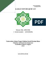 Ringkasan Studi Qur'An tugas