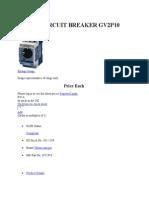 Motor Circuit Breaker Gv2p10