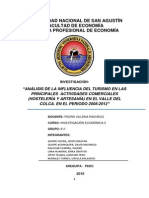 Analisis Del Turismo en Las Actividades Comerciales