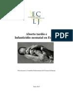 Aborto Tardío e Infanticidio Neonatal en Europa, ECLJ-2015