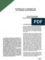 Necesidad de La Reforma de La Ley General de Sociedades