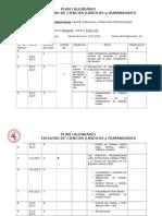 Plan Calendario de Relaciones Interamericanas