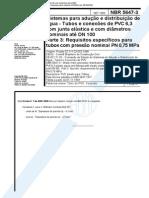 NBR 5647-3 Sistemas Adução e Distrib de Água - Parte 2 Requisitos Específicos