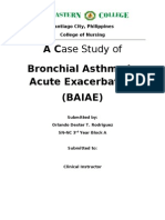 Case Study of bronchial asthma in acute exacerbation