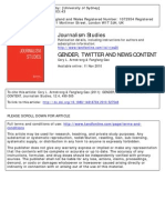 Gender, Twitter and News Content
