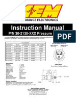 30-2130-XXX Stainless Steel Pressure Sensor