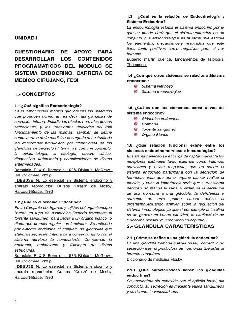 Lujo Ejercicio 27 Anatomía Funcional De Las Glándulas Endocrinas ...