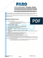 FaroArm and ScanArm Performance Verification Checklist