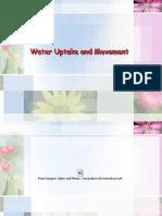Lec5Water Uptake and Movement_PDF