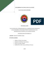 LAS CAUSAS DE LA DISMINUCIÓN DE LA PARTICIPACIÓN CIUDADANA EN EL DESARROLLO DEL PRESUPUESTO PARTICIPATIVO 2016