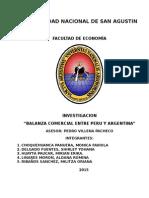 Balanza Comercial Entre Peru y Argentina