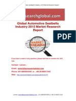 Global Automotive Seatbelts Industry 2015 Market Research Report