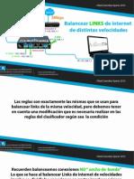 mikrotik Balancear LINKS de Internet de Distintas Velocidades