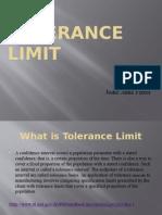 Tolerance Limit