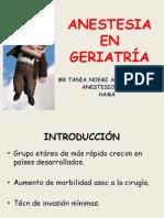 Anestesia en Geriatría