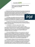 CCC - Aspectos Negativos de La Ley Nº 26.993 Sobre Resolución de Conflictos en Las Relaciones de Consumo