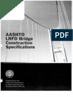 Lrfd bridge design specifications aashto