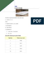 Estimating Concrete