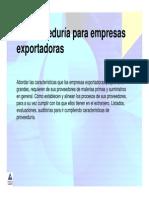 exportacioens caracteristicas