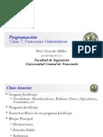 Clase Programación 7