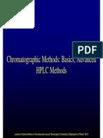 Chomatographic Methods Basics Advanced HPLC Methods 2012