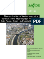 The application of Waterharmonica concept in the Metropolitan Region of São Paulo, Brazil - A Feasibility Study
