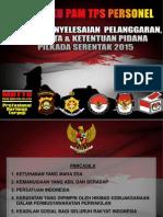 Buku Saku Pam Tps Pilkada 2015 Pedoman Personel Polres Musi Rawas-polda Sumsel