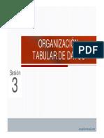 3. Organizacion Tabular