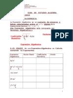 Guia de Estudio Algebra