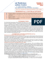Update on Hormonal Contraception