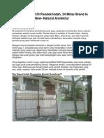 Rumah Dijual Di Pondok Indah, 24 Miliar Brand in New- Natural Arsitektur