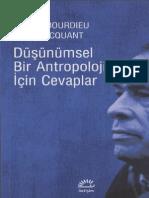 Dusunumsel Bir Antropoloji Icin - Pierre Bourdieu
