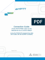 Cable Preparation Guide for Connecting MOTOTRBO Radio as a Control Station to the Radioserver (Using HLN9457 Connector and PMKN4147A Programming Cable)