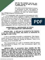 Succession PDF Revocation of Wills