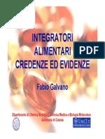 6 Integratori Credenze Ed Evidenze GALVANO