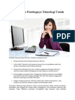 Manfaat Dan Pentingnya Teknologi Untuk Sekretaris
