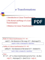 Lecture7, Linear Transformation