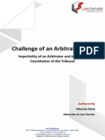 Challenge of an Arbitral Award