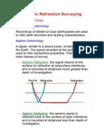 Seismic Refraction Surveying