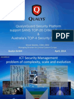 Qualys Supports Sans 2014